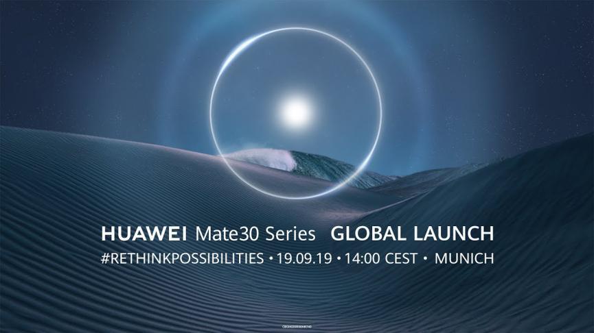 Huawei Mate 30: Cómo Ver su  Presentación Oficial en unas Horas más