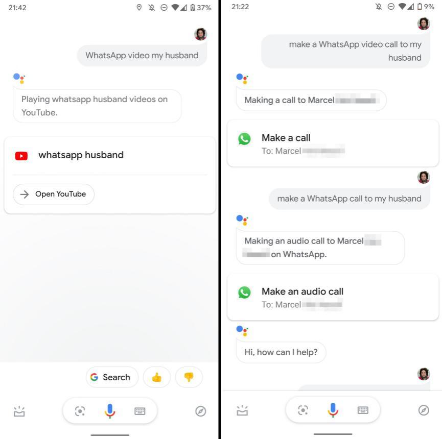 WhatsApp y Asistende de Google 01