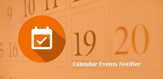 Calendar Events Notifier