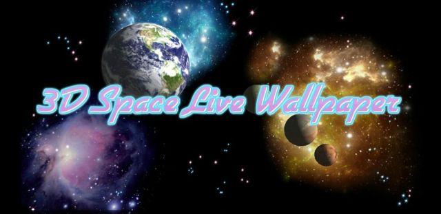 3D Space live Wallpaper