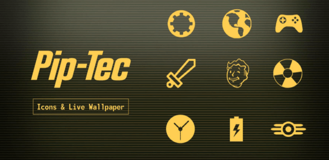 PipTec Amber icons & Live Wallpaper