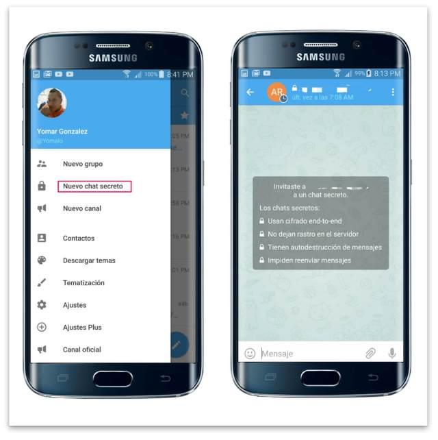 Telegram chat secreto