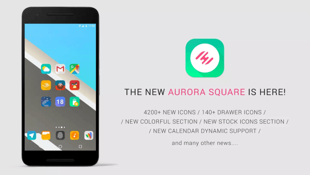 Aurora UI Square icon pack