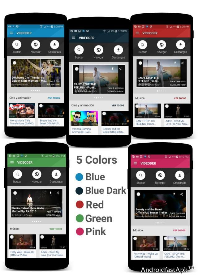 Videoder colors