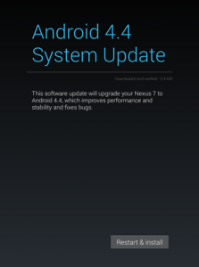 Android 4.4. KRT 16S System Update