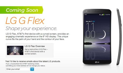 LG G Flex Available for Pre-Order on AT&T