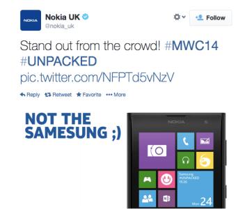 Nokia Makes Fun of Samsung's New Galaxy S5