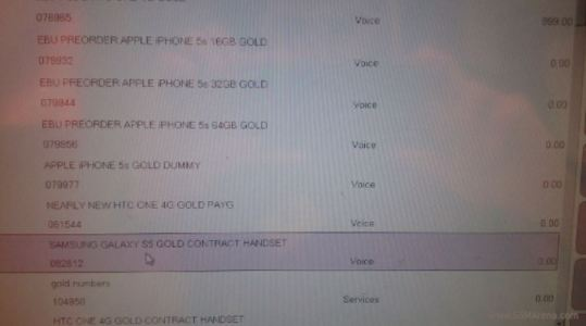 Samsung Galaxy S5 Confirmed in Gold