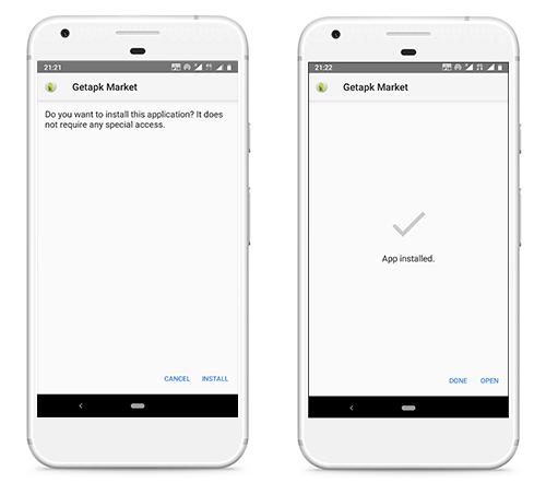 install-getapk-pasar-APK-on-android