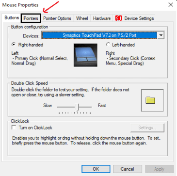 tap on pointer and select 7 Simple Steps to change your mouse cursor