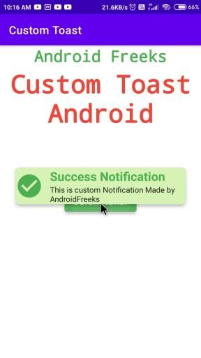 custom toast android
