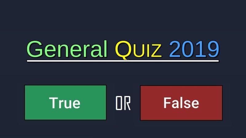 General Quiz 2019