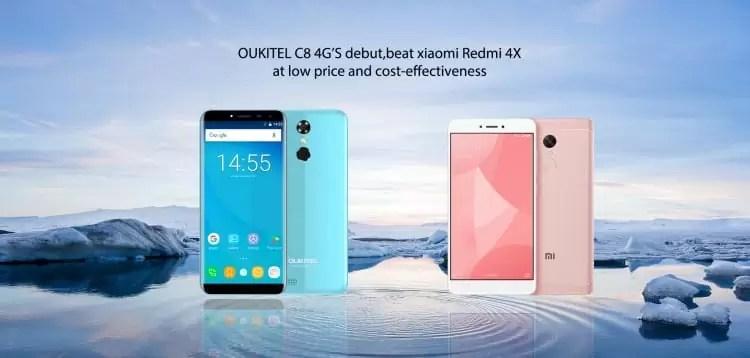 OUKITEL C8 4G vs Xiaomi Redmi 4X, qual comprar? 2
