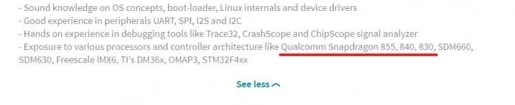 Funcionários da Qualcomm confirmam Snapdragon 840, 845 e 855 nos perfis de LinkedIN 2