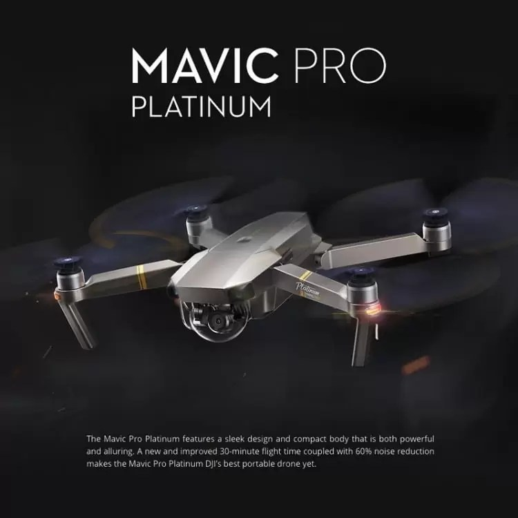 DJI Mavic Pro Platinum Foldable em duas versões e dois preços de que vão gostar 1