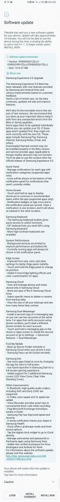 Galaxy S8 Oreo Changelog e detalhes, alterações do ecrã edge e mais 2