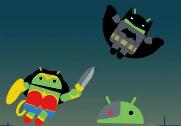 Aqui estão papeis de parede gratuitos da Liga da justiça com o tema Android 1