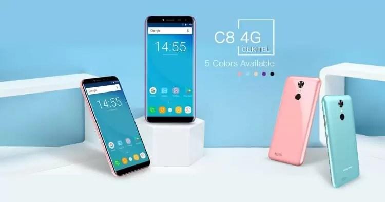 OUKITEL C8 4G está iminente, display infinito com bateria gigante a um preço surpreendente 1