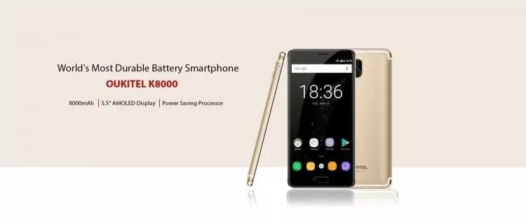 OUKITEL K8000 afirma-se como o telefone inteligente de bateria mais durável 1