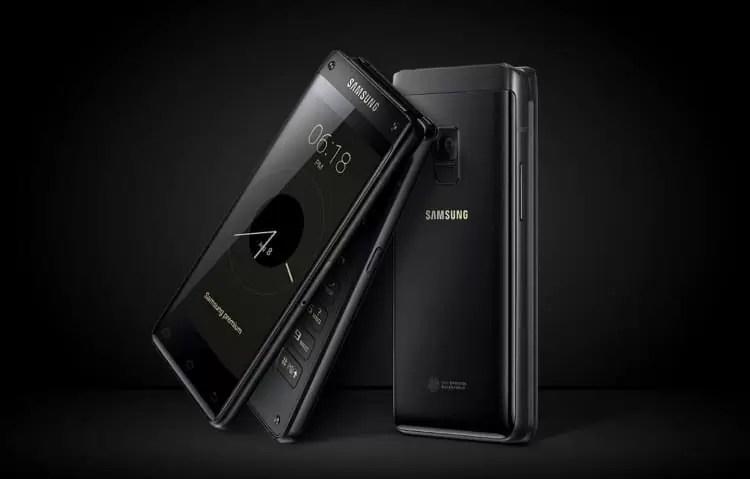 Samsung Flip Phone SM-W2018 de 2000$ localizado no site oficial da Samsung 2