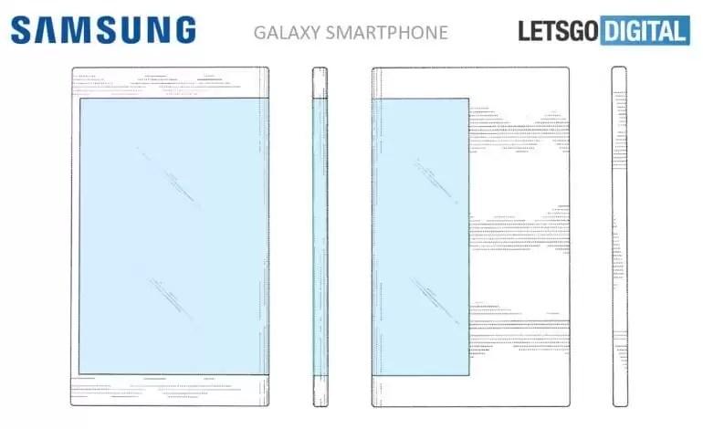 Patente mostra smartphone Samsung Galaxy com display dos dois lados 2