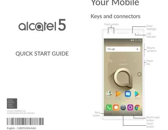 Alcatel 5 aparece no órgão regulador onde são revelados alguns detalhes 9