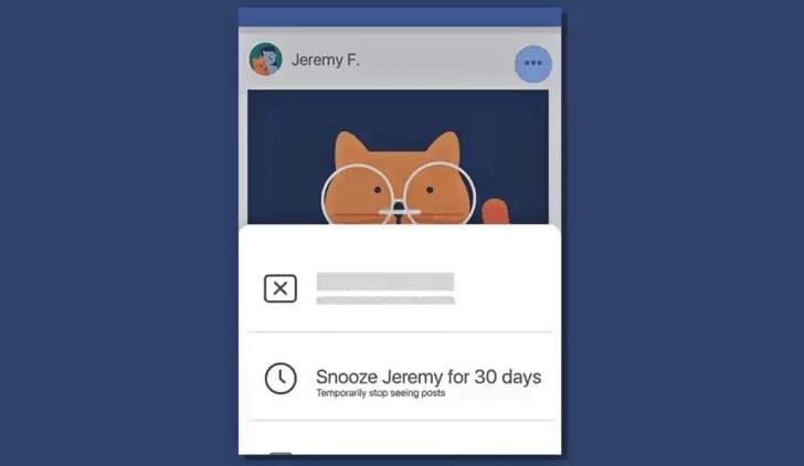 Facebook SNOOZE vai permitir silenciar aqueles amigos mais chatos 1