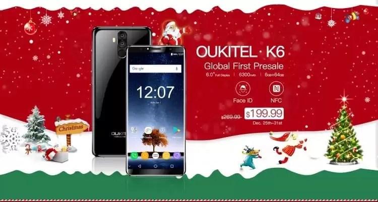 OUKITEL K6 em Global First Presale na Banggood com 6 GB de RAM e 6300mAh de bateria 1