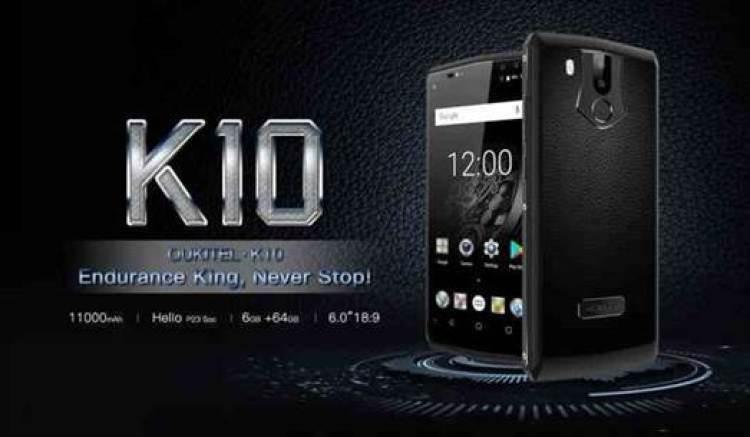 OUKITEL K10 ganha carregador novo 5V / 5A mais rápido e a bateria de 11000mAh, carrega totalmente em 170 minutos 1