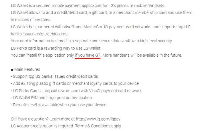 LG Wallet substitui LG Pay e já tem aplicação exclusiva para o LG G7 2