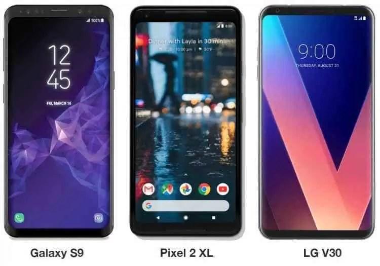 Os renders dos Galaxy S9 e Galaxy S9 + mostram telefones que se parecem demasiado com o Pixel 2 XL e V30 1