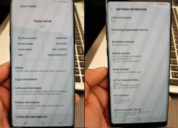 Galaxy Note 8 começa a receber o Android Oreo 1