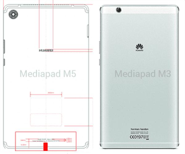 Huawei vai apresentar um Huawei Mediapad M5 com bateria de 4980 mAh (vejam os esboços do projeto) 1