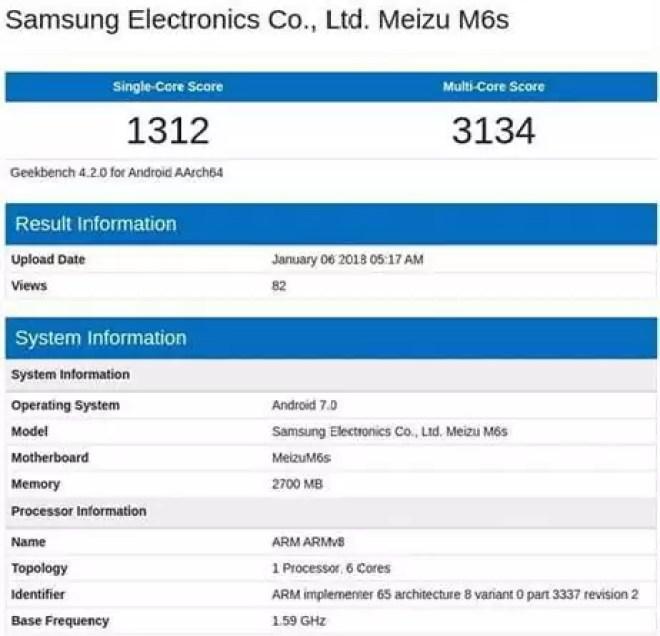 Meizu M6S aparece no Geekbench antes do seu lançamento a 17 de janeiro 1