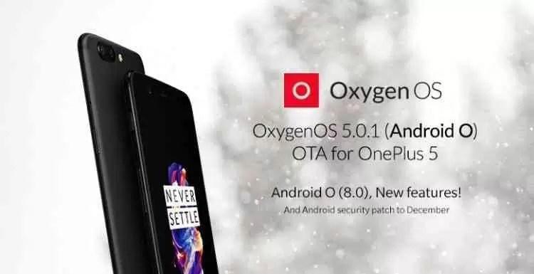 Update OxygenOS 5.0 / Android 8.0 Oreo para o OnePlus 5 rectifica os erros que interromperam a distribuição 1