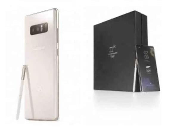 Samsung Galaxy Note8 PyeongChang 2018 Jogos Olímpicos Edição limitada