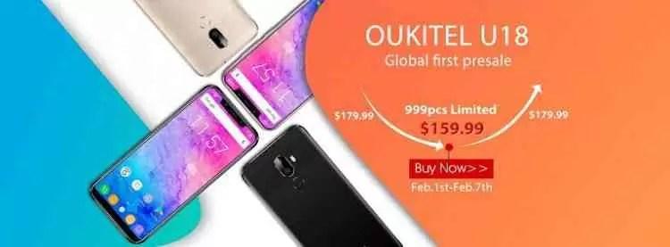 Primeiro clone do iPhone X o OUKITEL U18 começa a pré-venda por apenas $ 159.99 1