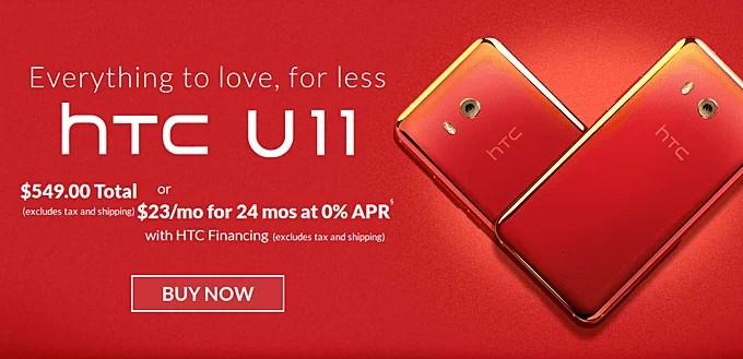 HTC U11 com corte de preço de $ 100 1