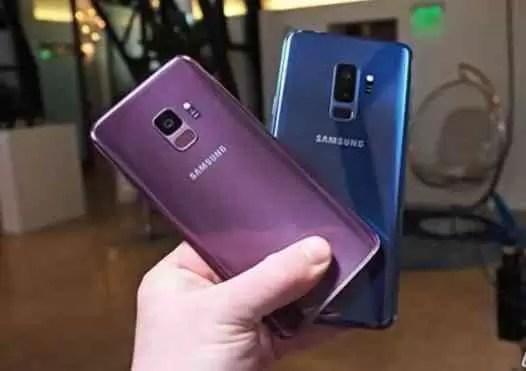 Samsung Galaxy S9 + em teste de queda contra o iPhone X 1