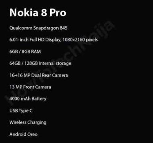 Nokia 8 Pro poderá chegar para resolver o maior problema do Nokia 8 Sirocco 1