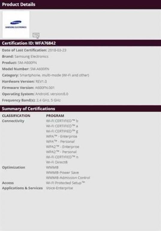 Samsung Galaxy A6 recebe indispensável certificação e lançamento pode estar para breve 1