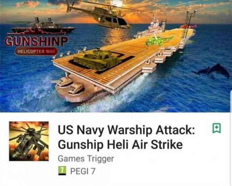 US Navy Warship Attack: Gunship Heli Air Strike da Games Trigger acaba de chegar ao Google Play 1