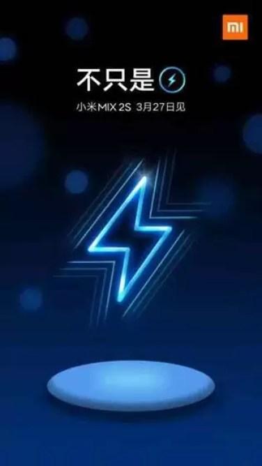 Xiaomi sugere que Mi Mix 2S virá com carregamento sem fios 1