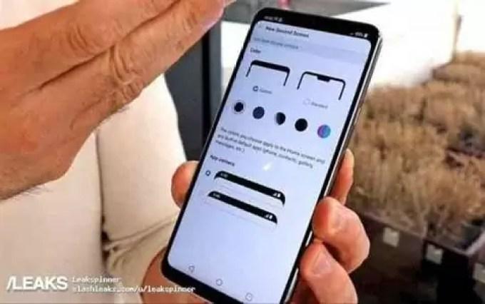 Imagem real do LG G7 ThinQ mostra os seus cantos arredondados e app de personalização notch 1