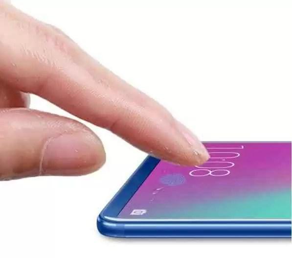 sensor biométrico no ecrã