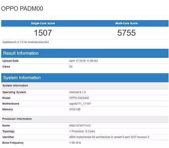 Oppo A3 certificado com Helio P60 e ecrã 18:9 de 6.2 polegadas 1