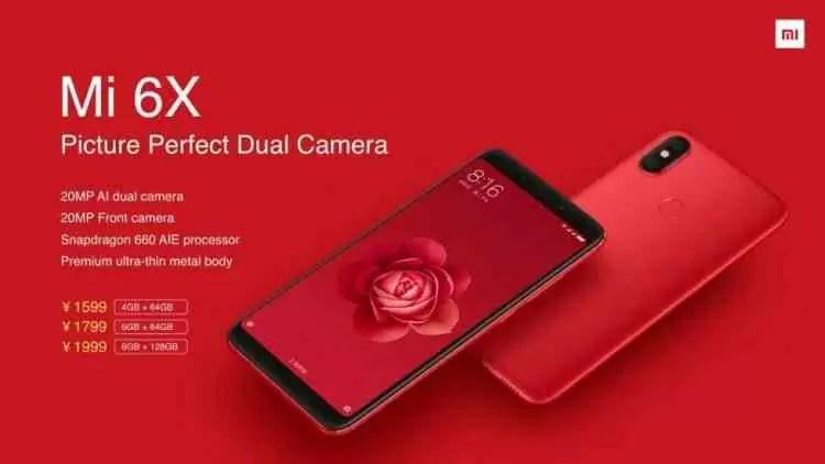 Xiaomi Mi 6X estreia-se com câmaras duplas AI 1