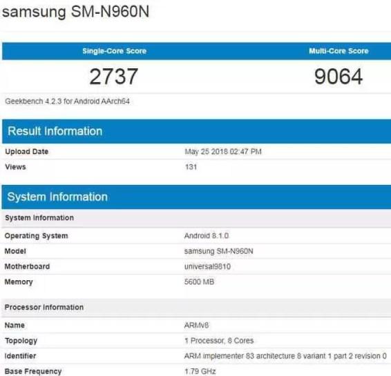 Benchmark mostra Galaxy Note 9 com Exynos mais veloz que com Snapdragon 1