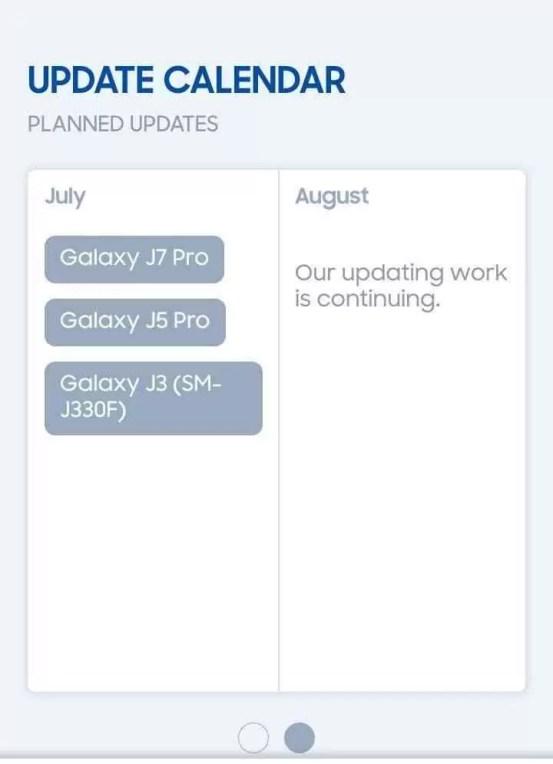 Galaxy J3, J5 Pro e J7 Pro receberão o update do Oreo em Julho 1