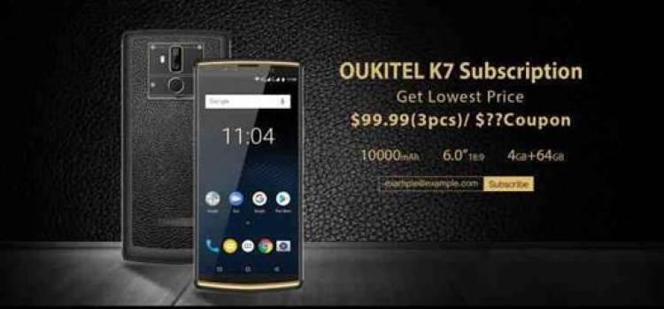 OUKITEL K7 tem as especificações confirmadas e recebe um campanha em que pode ser comprado por $99.99!! 1